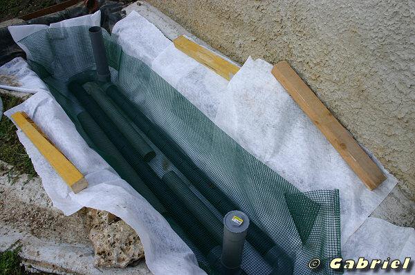 Réalisation filtration par lagunage