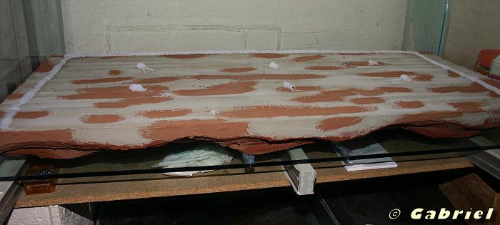 Réalisation d'un décor en polystyrène extrudé et mortier hydraulique SIKATOP 121