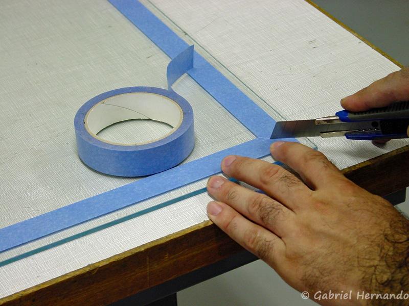 Positionnement des protections, pour réalisation des joints