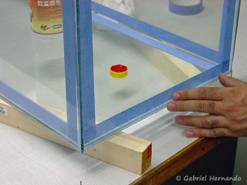 Mise en pression pour obtenir un joint de 1 mm