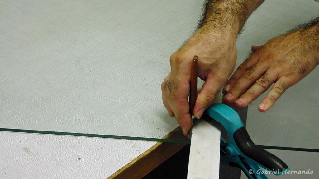 Positionnement du coupe verre pour une coupe régulière