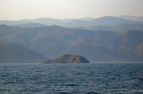 Mbowe Island, Malawi, vue du large