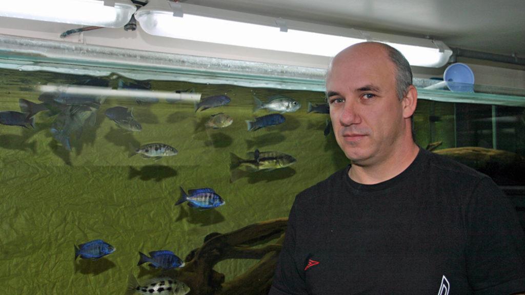 Gabriel Hernando, dans la fishroom