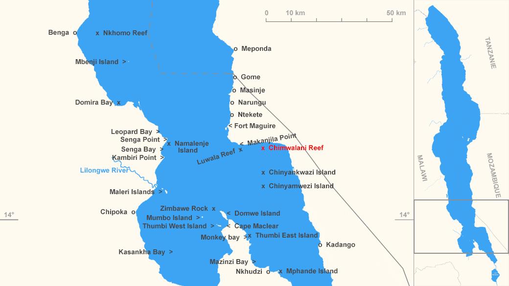 Localisation de Chimwalani Reef