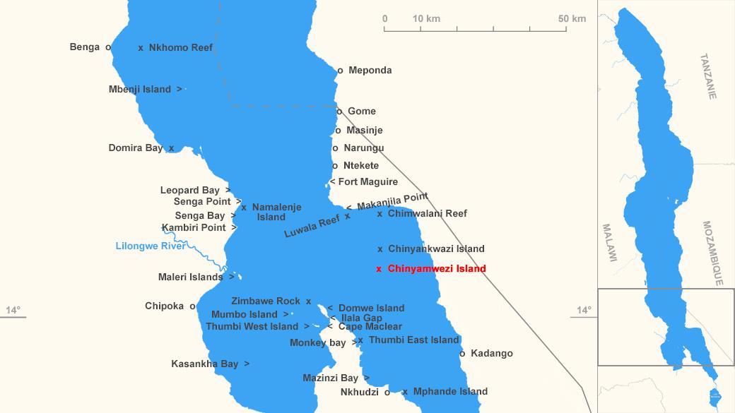 Localisation de Chinyamwezi Island