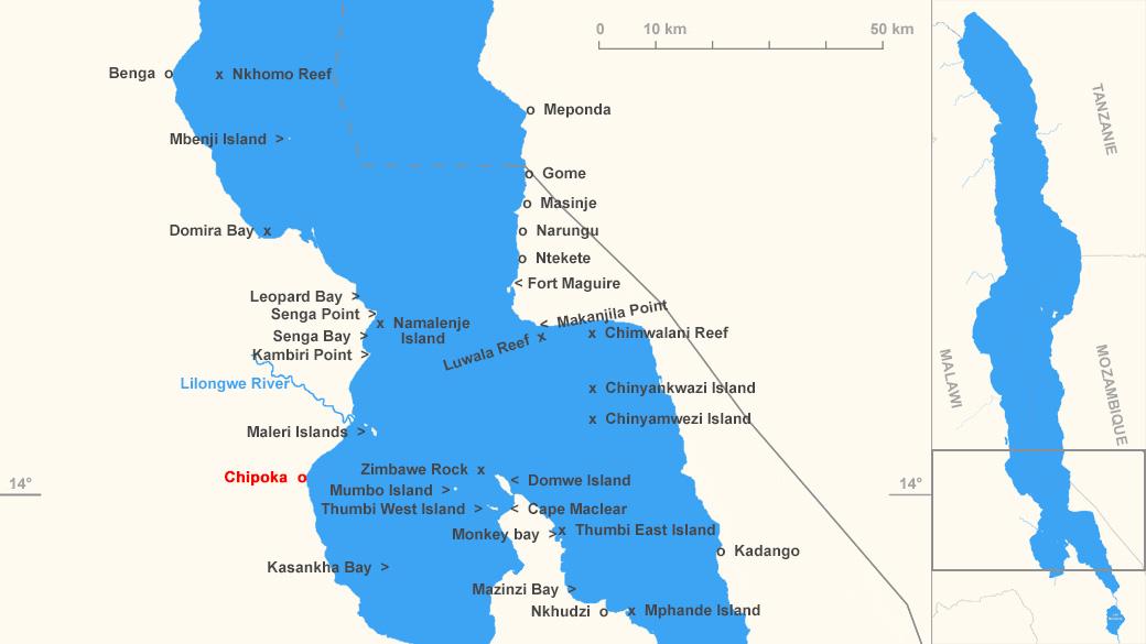 Localisation de Chipoka