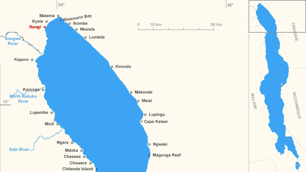Localisation de Itungi, en Tanzanie