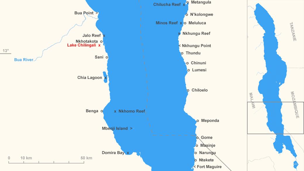 Localisation du lac Chilingali