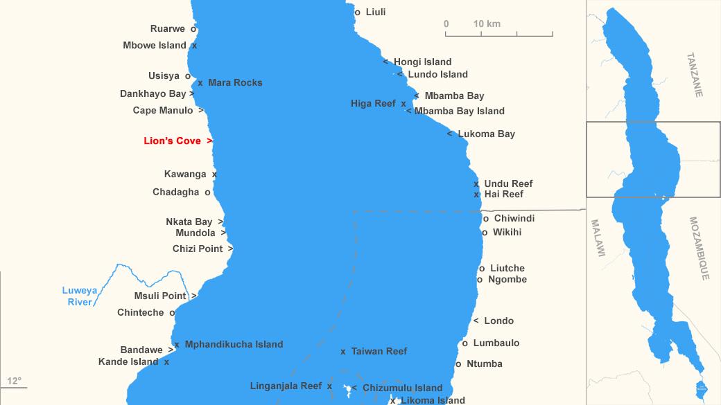 Localisation de Lion's Cove