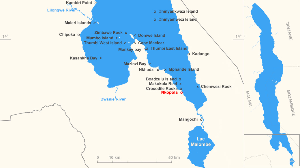 Localisation de Nkopola, Malawi