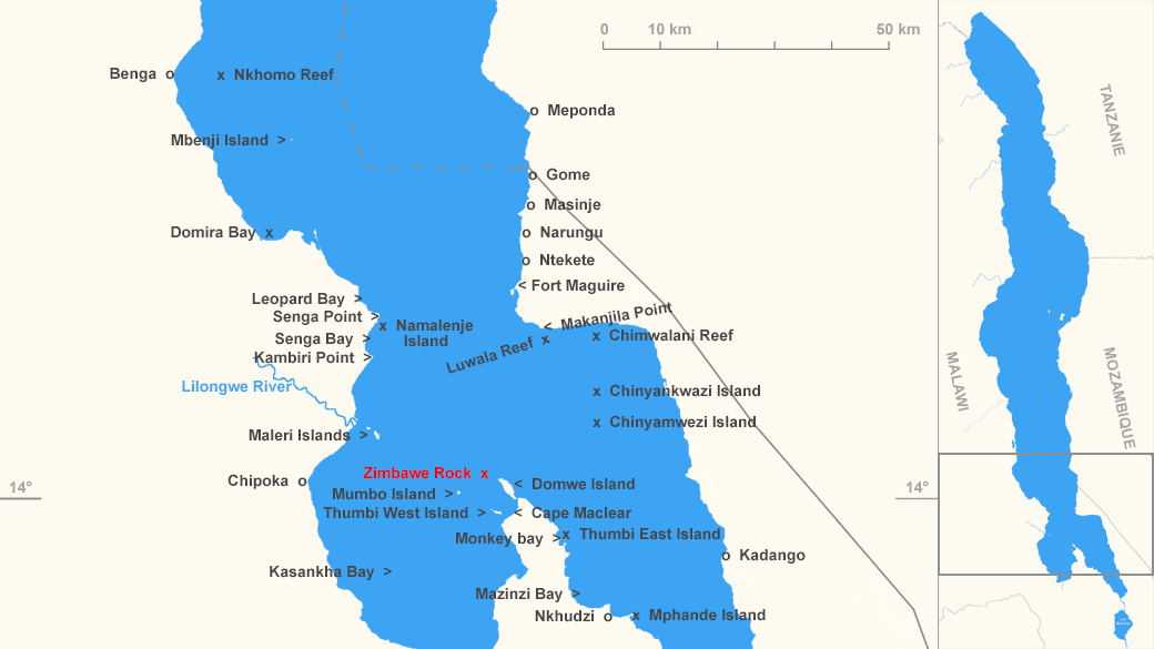 Localisation de Zimbawe Rock
