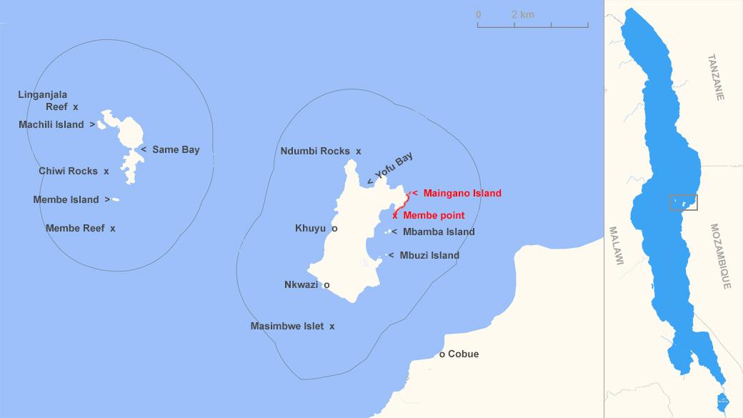 Distribution de Maylandia koningsi