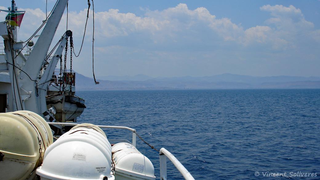 Le lac Malawi vu du Mtendere, ancien bateau à vapeur